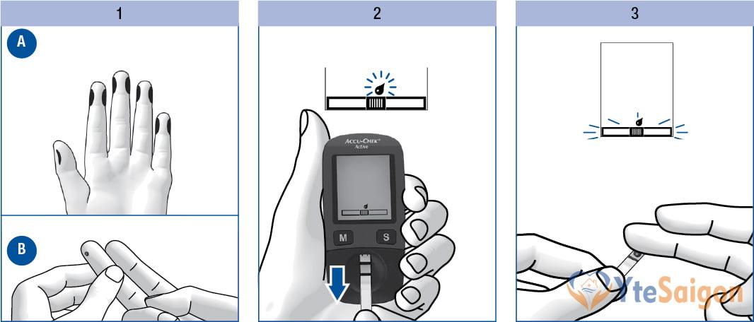 Accu-Chek Active đo ngoài máy